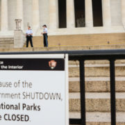 Lincoln Memorial closed due to government shutdown