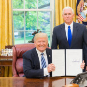 President Trump with Executive Order