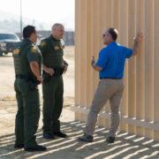 Border wall construction site
