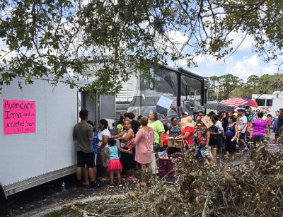 Donations to survivors of Hurricane Irma