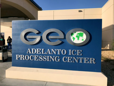 The Adelanto ICE Processing Center is managed by GEO Group, a private prison firm.