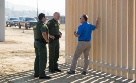 Acting Deputy Commissioner Ronald D. Vitiello Visits The Border Wall  Construction Site Near The Otay Mesa Port Of Entry As Eight Different  Prototypes Of The ...