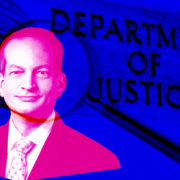 Alexander Acosta under a magnifying glass