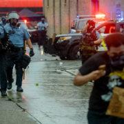 Minneapolis Police fire tear gas