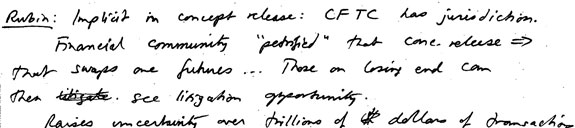 Photo of handwritten notes 1