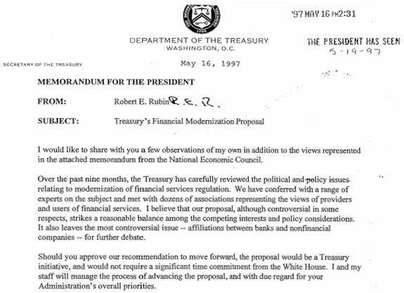 Department of Treasury memo 5