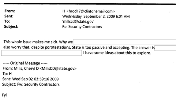 Hillary Clinton email exchange on Kabul Embassy controversy