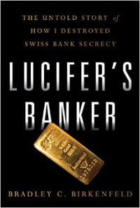 Book cover: Lucifer's Banker by Bradley C. Birkenfeld