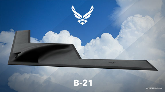 Graphic image of the B-21