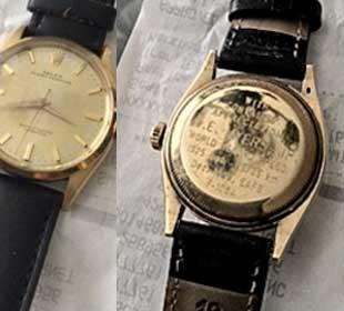 Photograph of Chuck E. Meyers's watch