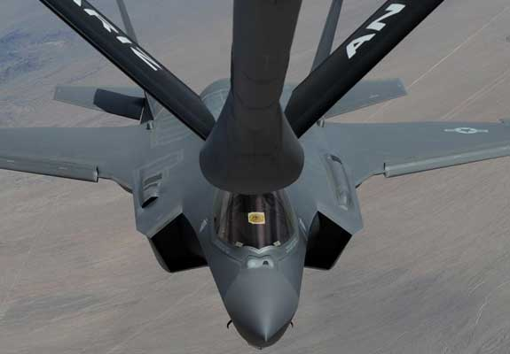 The F-35 relies heavily on aerial refueling.