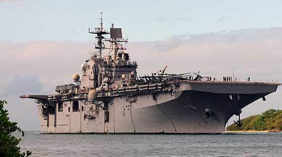 Photograph of the aircraft carrier USS Bonhomme Richard