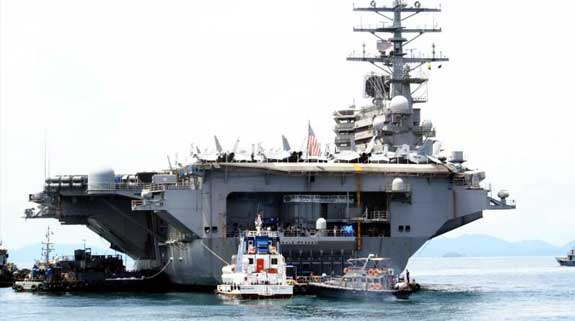 Photo of the aircraft carrier USS Ronald Reagan