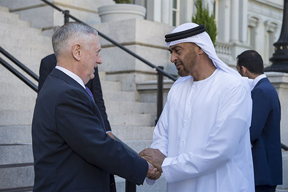 Defense Secretary James Mattis' Meeting with Crown Prince Mohammed Bin Zayed Al Nahyan
