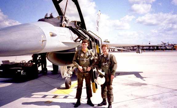 Mark Thompson and Captain Bill Huddle 1982