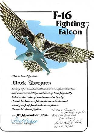 Mark Thompson certificate
