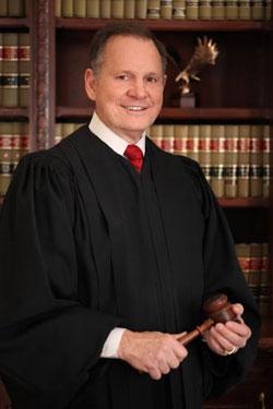 Former Chief Judge of Alabama Supreme Court, Judge Roy Moore court portrait