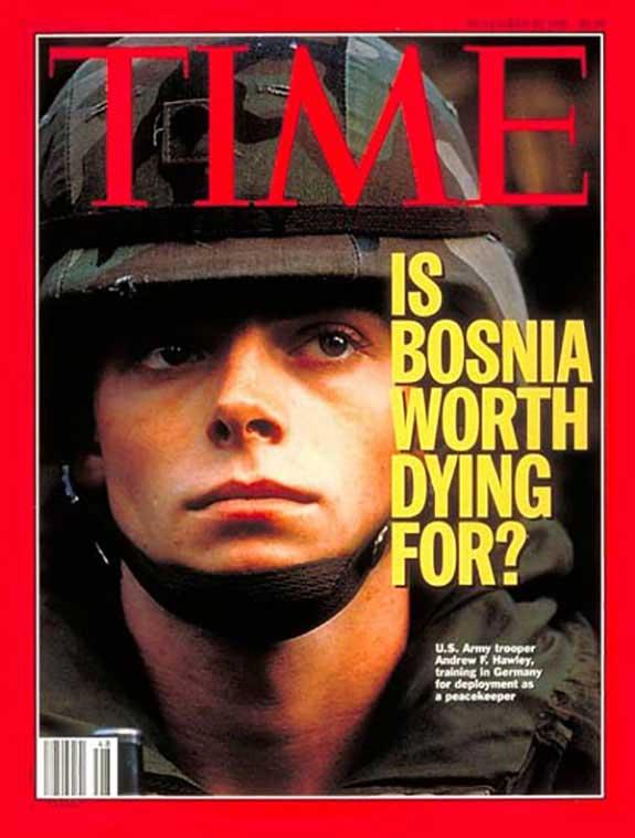 TIME magazine Bosnia cover