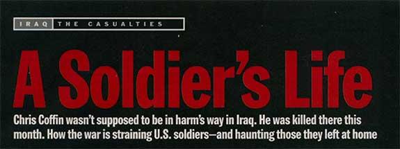 Photo of TIME magazine Iraq Story Header