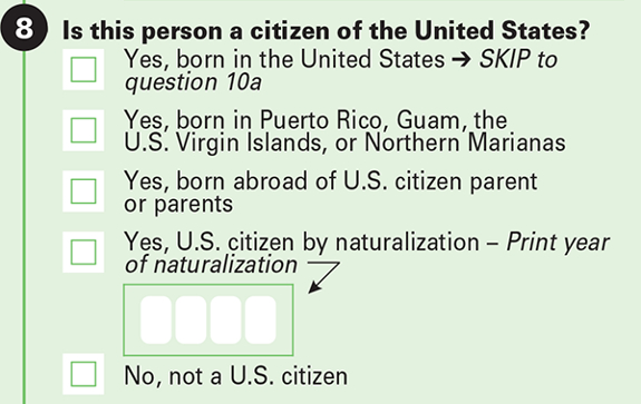 Census question 8