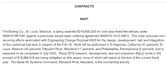 Navy contract