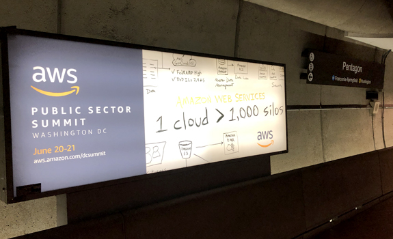 Pentagon Metro Amazon AWS Ad