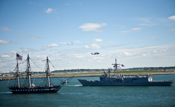 USS Constitution and USS Carr